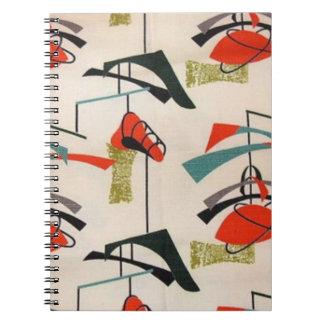 Cuaderno atómico moderno de la tela de los