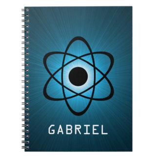 Cuaderno atómico Nerdy, azul