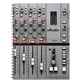 """Cuaderno audio de la hoja del mezclador """"tome"""""""