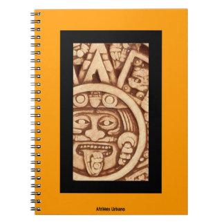 Cuaderno azteca del detalle del calendario de Afri