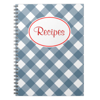 Cuaderno azul de la receta de la guinga