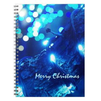 Cuaderno azul de las luces de navidad