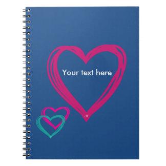 Cuaderno azul de los corazones (80 páginas B&W)