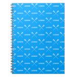 Cuaderno azul de los palillos de LaCrosse