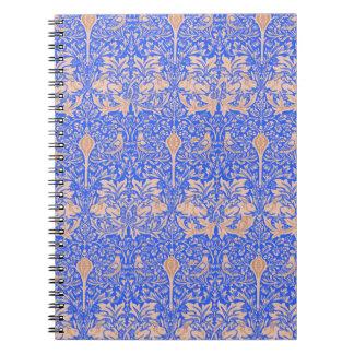 Cuaderno azul de Nouveau del arte de William Morri