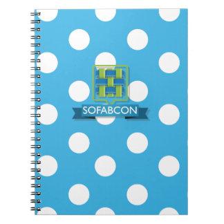 Cuaderno azul de Polkadot SoFabCon