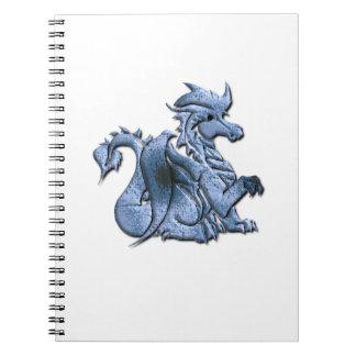 Cuaderno azul del dragón