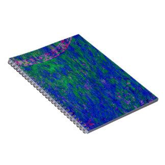 Cuaderno azul del extracto del batik