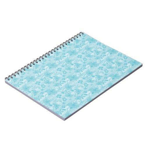 Cuaderno azul del modelo de la playa del hibisco