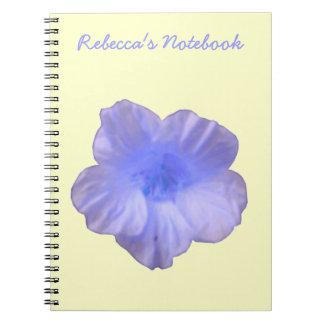 Cuaderno azul hermoso del personalizable de la cap