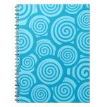 Cuaderno azul lindo