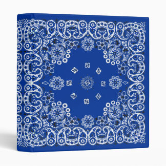 Cuaderno azul occidental de la carpeta del pañuelo