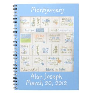 Cuaderno azul personalizado de la huésped de los r