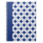 Cuaderno azul y blanco
