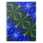 Cuaderno azul y verde del arte abstracto de las fo