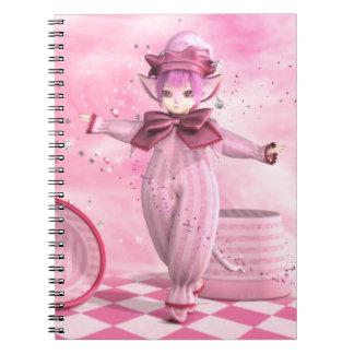 Cuaderno banal rosado precioso