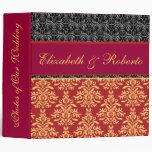 Cuaderno barroco elegante del álbum del boda del d