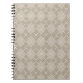 Cuaderno beige clásico de Argyle