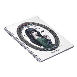 """Cuaderno """"blanco como la nieve"""" del arte de la fan"""