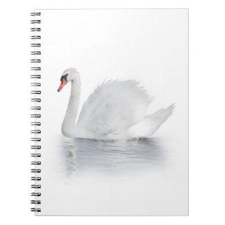 Cuaderno blanco del cisne