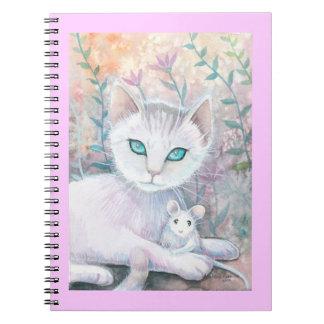 Cuaderno blanco del gato y del ratón
