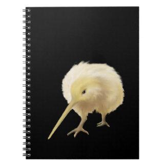 Cuaderno blanco del kiwi