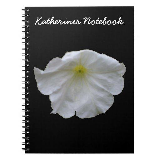 Cuaderno blanco hermoso del personalizable de la p