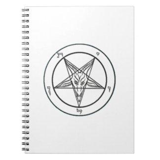 Cuaderno blanco/negro de Baphomet