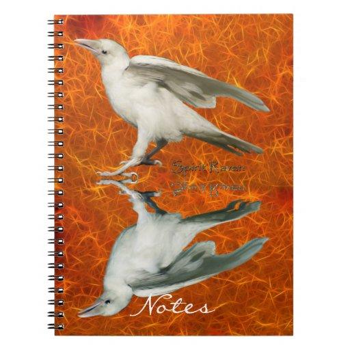 Cuaderno blanco raro del arte del cuervo y de la r