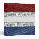 Cuaderno blanco y azul rojo del diamante artificia