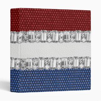 """Cuaderno blanco y azul rojo del diamante artificia carpeta 1"""""""
