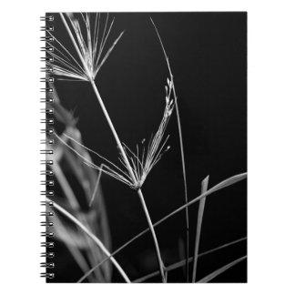 Cuaderno blanco y negro artístico de la naturaleza