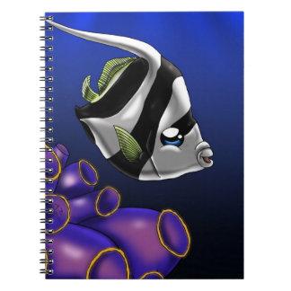 Cuaderno blanco y negro de Heniochus