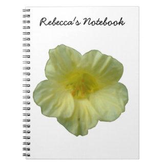 Cuaderno bonito del personalizable de la capuchina