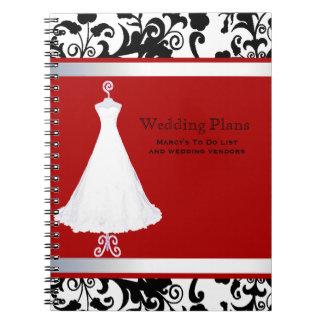 Cuaderno bonito del planificador del boda