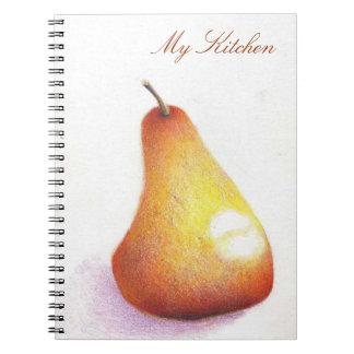 Cuaderno botánico de la cocina del arte