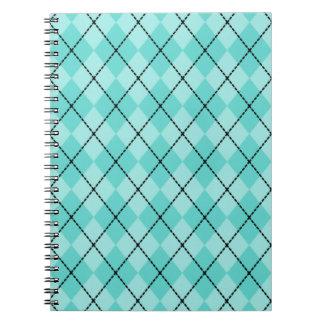 Cuaderno brillante de Argyle de la aguamarina