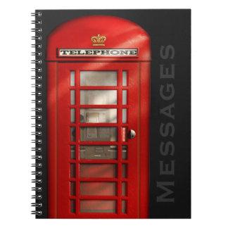Cuaderno británico clásico de los mensajes