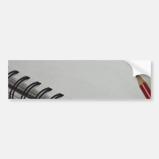 Cuaderno Etiqueta De Parachoque
