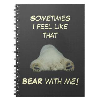 Cuaderno cansado del oso polar