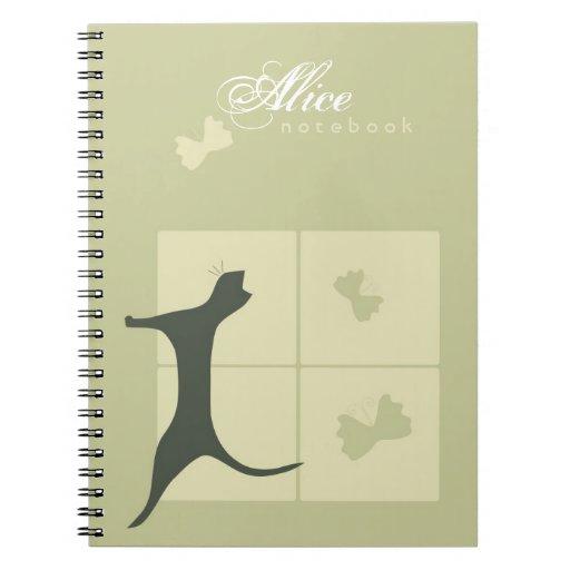 Cuaderno caprichoso del gato
