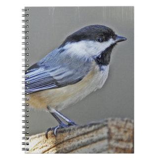 Cuaderno capsulado negro del Chickadee