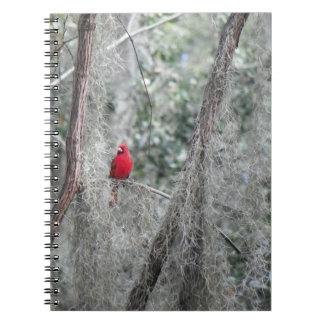 Cuaderno CARDINAL ROJO VIEJO de la foto de la FLOR