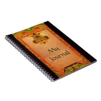 Cuaderno céltico del diario del manuscrito