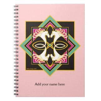Cuaderno céltico del personalizado de los caballos