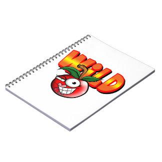 cuaderno/cereza salvaje note book