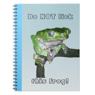 Cuaderno ceroso gigante de la rana arbórea del mon