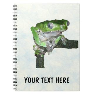 Cuaderno ceroso gigante de la rana del mono