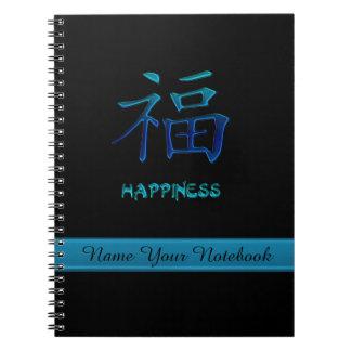 Cuaderno chino personalizado del símbolo de la