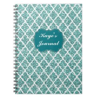 Cuaderno chispeante personalizado del trullo